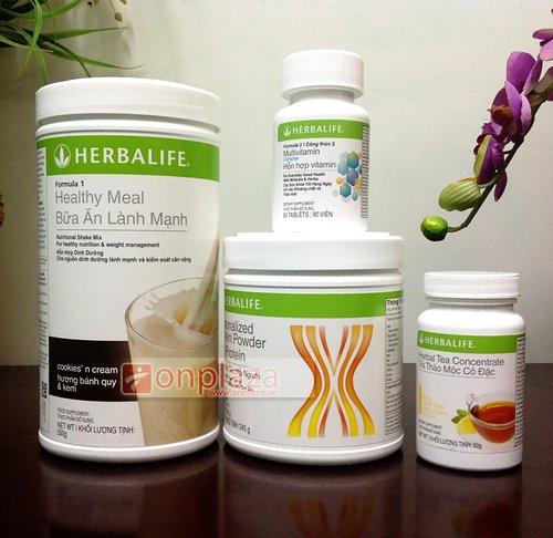 Thực phẩm bổ sung Bộ 4 Herbalife giảm cân nâng cao
