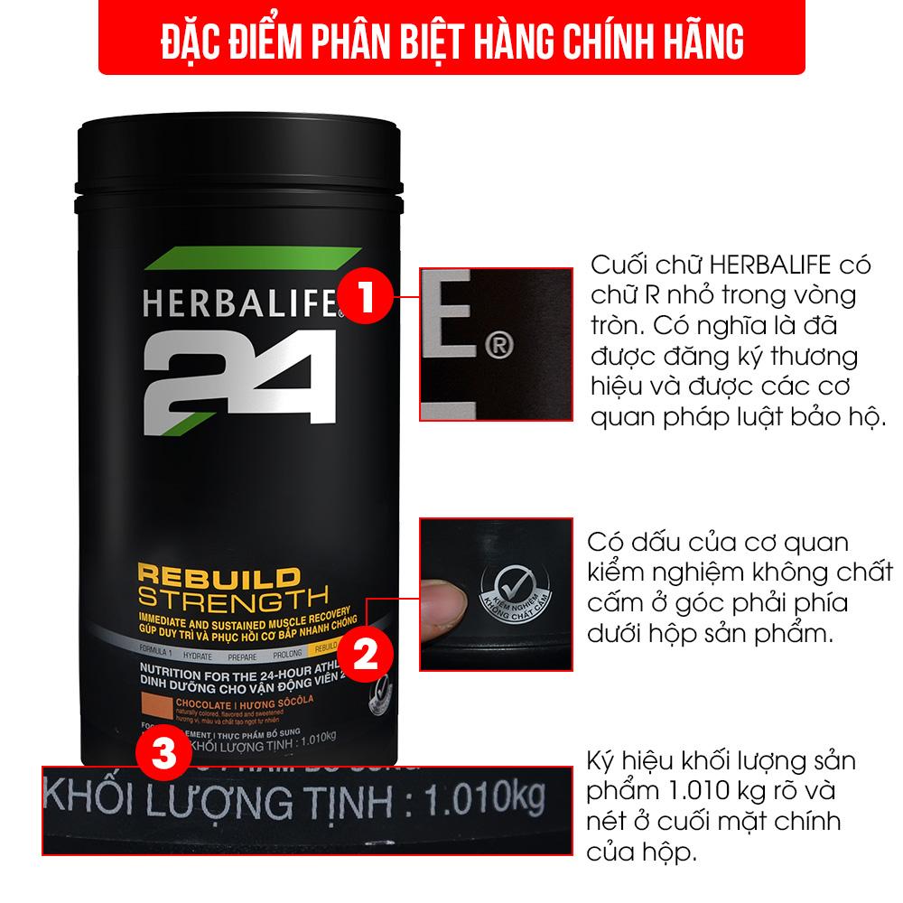 Herbalife 24 Rebuild Trength – sản phẩm sau tập luyện H027 2
