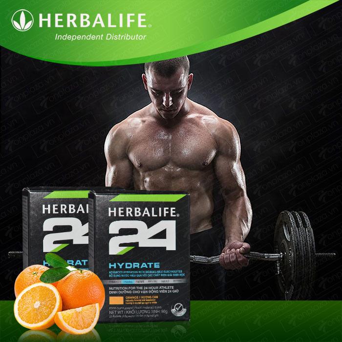 Herbalife 24 Hydrate cho vận động viên loại hương cam H026 1