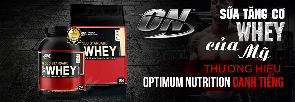 Sữa tăng cơ Whey của Mỹ - thương hiệu Optimum Nutrition