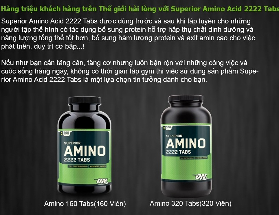 Tác dụng của Amino đối với người đang tập thể hình tăng cơ bắp như thế nào 3