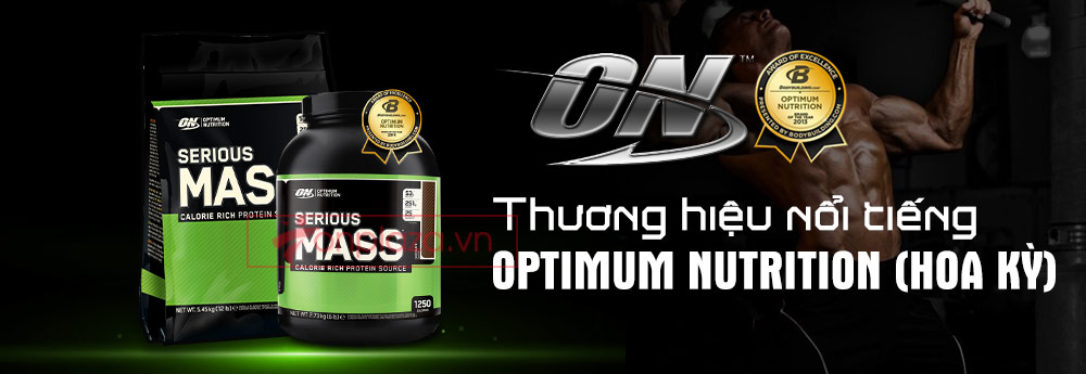 Thương hiệu nổi tiếng Optimum Nutrition serious mass