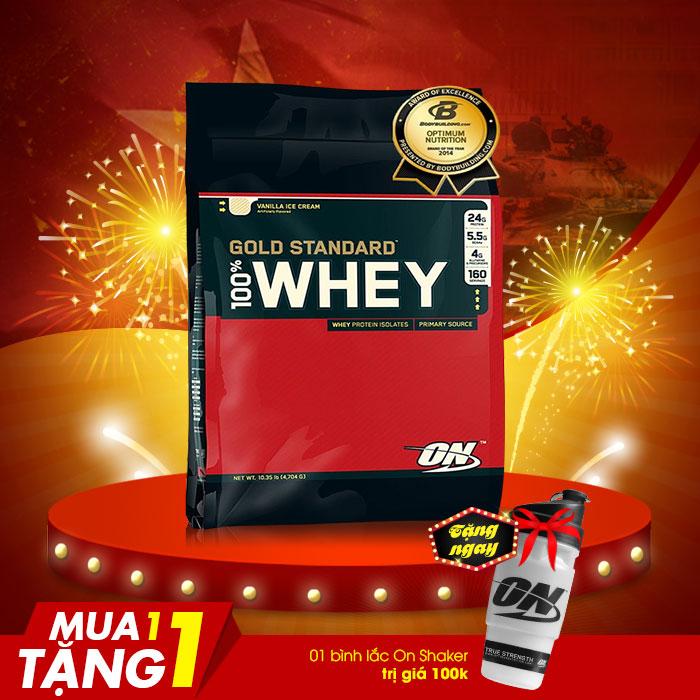 Sữa tăng cơ bắp Gold standard 100 % whey 10lbs TH015
