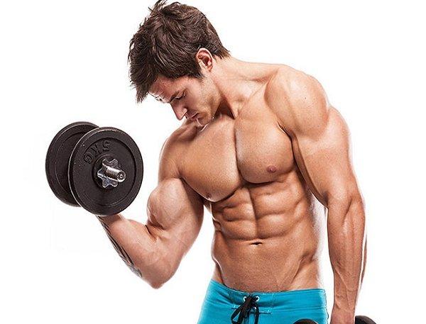 Bài tập cơ bắp tay bằng tạ tròn