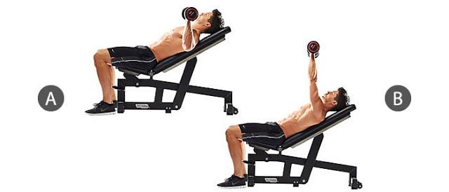 Bài tập đẩy tạ trên ghế