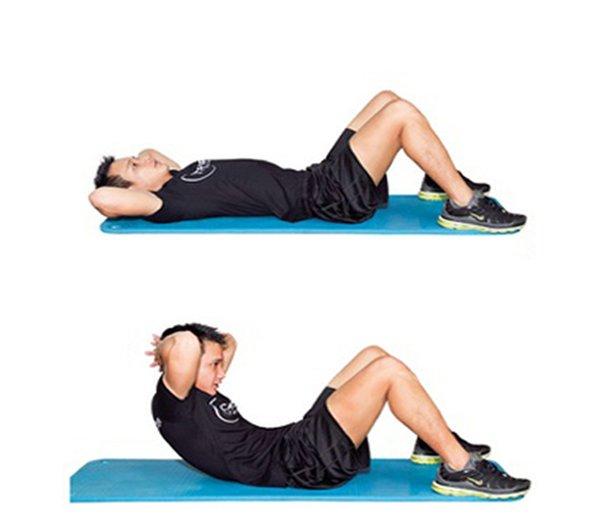 Bài tập gập bụng tác dụng tăng cân tăng cơ nhanh chóng