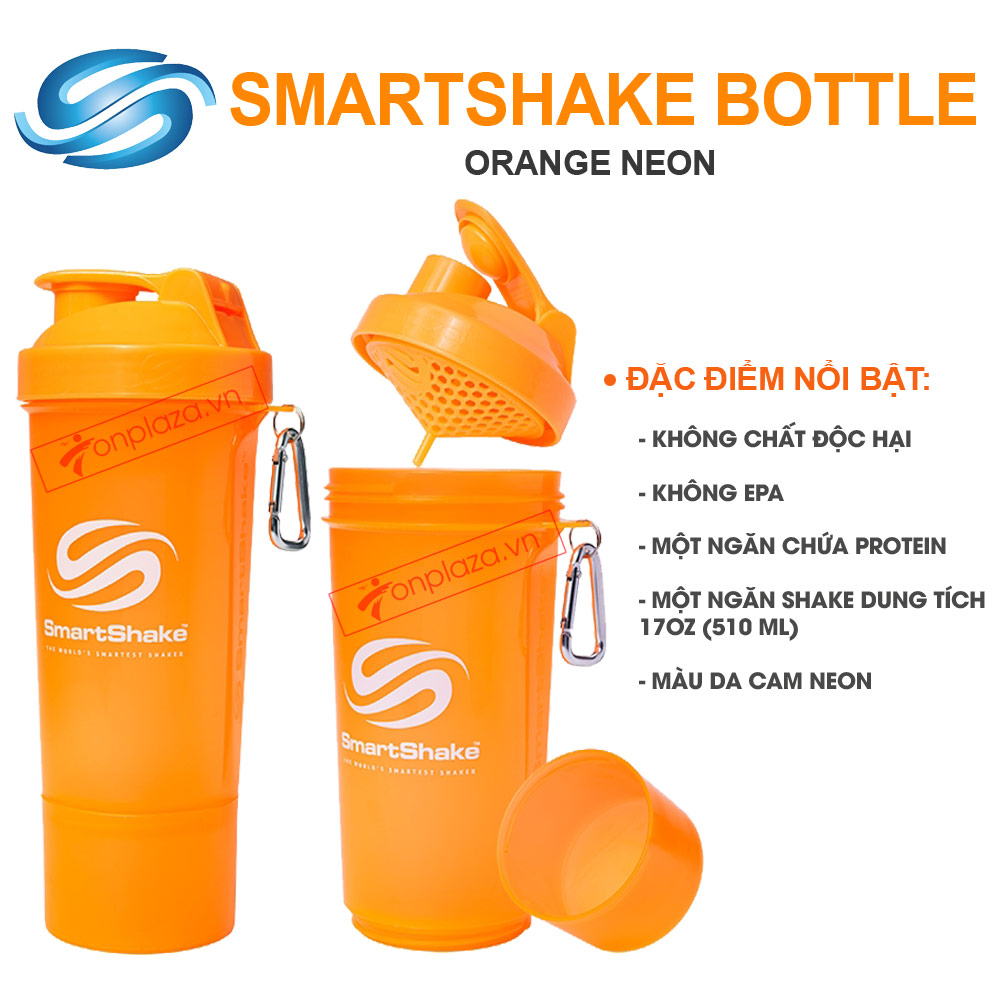 BÌNH SMARTSHAKE SLIM SHAKER ORANGE 17OZ 1