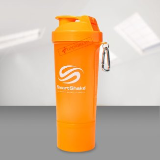 Bình lắc SmartShake Slim Shaker Orange 17oz (510 ml)