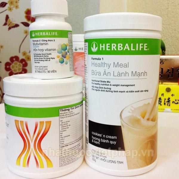 Bộ sản phẩm herbalife giảm cân lành mạnh