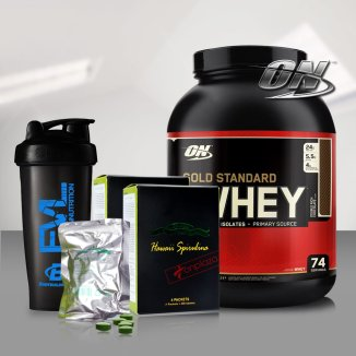 Bộ sản phẩm tăng cân và tăng cơ bắp cao câp TH1