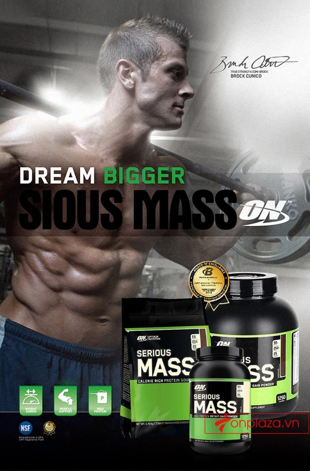 Công dụng của Sirious Mass với những người tăng cân, tăng thể hình 1