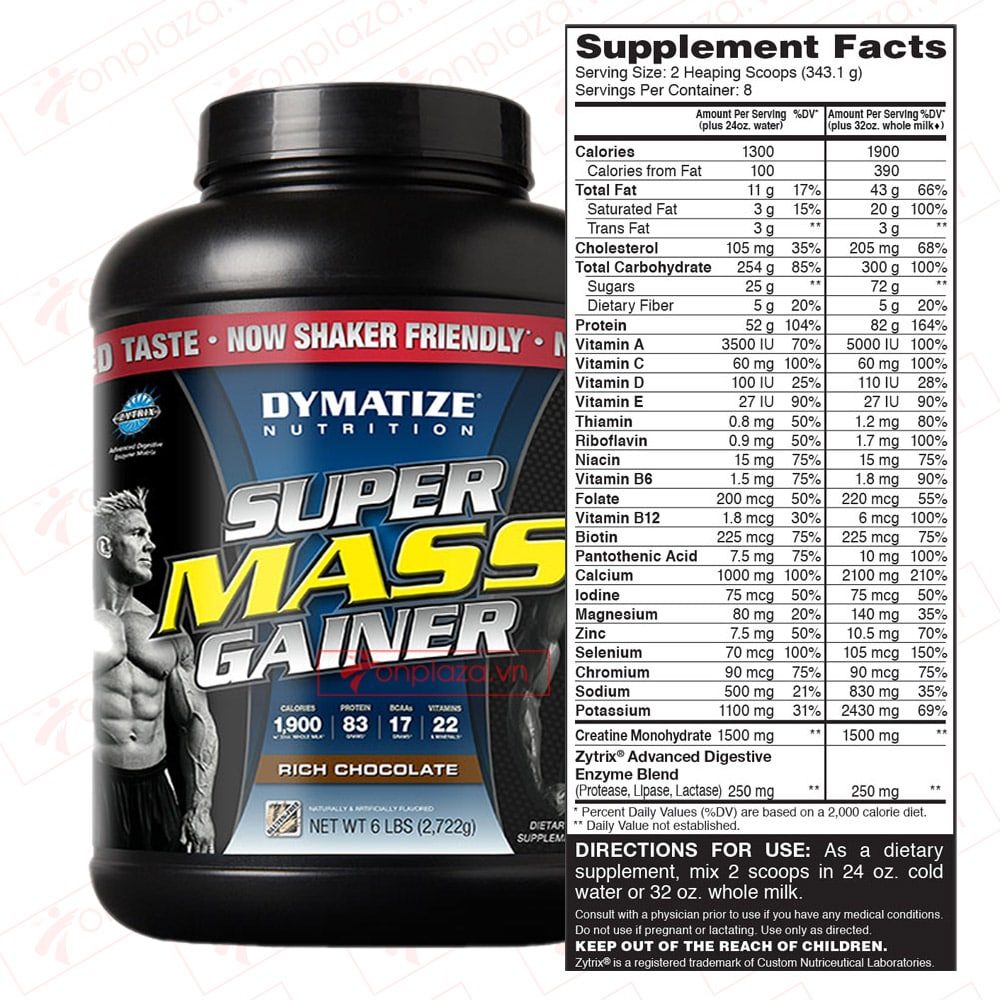 Dymatize Supper Mass Gainer 6lbs (2,27kg) 5