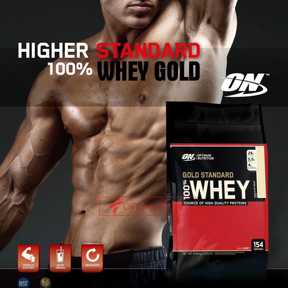 Gold standard 100 % whey 10lbs TH015