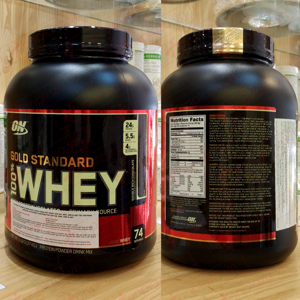 Gold standard 100 % whey 5lbs TH014