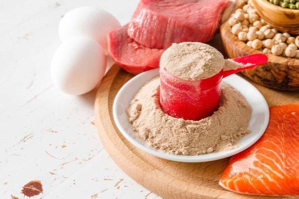 Kết hợp thực phẩm và sữa bổ sung Protein