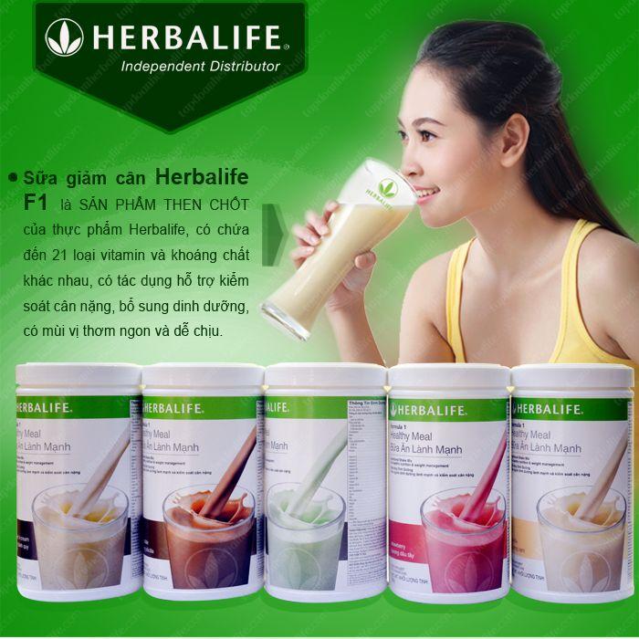 Sữa giảm cân Herbalife Healthy Meal F1 tốt cho sức khỏe