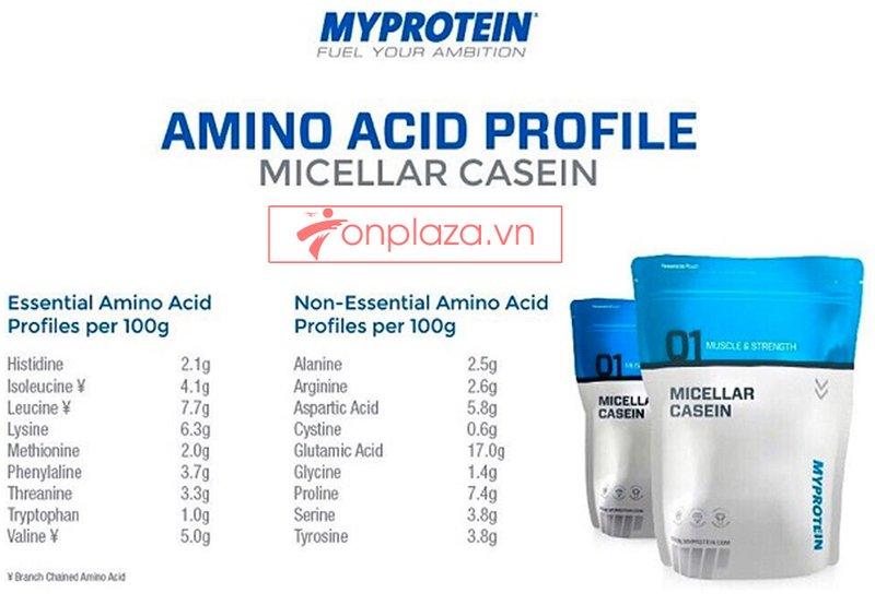 Sữa tăng cơ MyProtein - Casein bịch 2.5kg 2