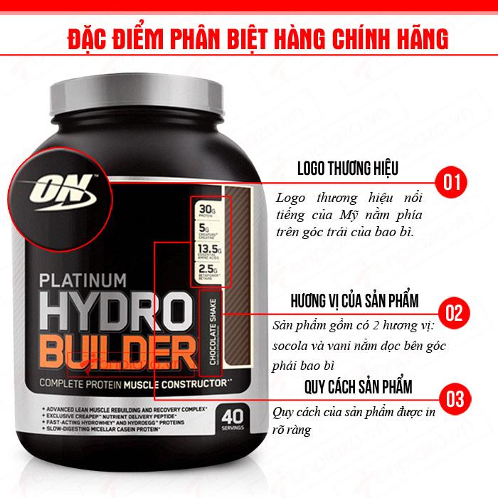 Sữa tăng cơ Platinum HydroBuilder 4.4lbs TH024 1