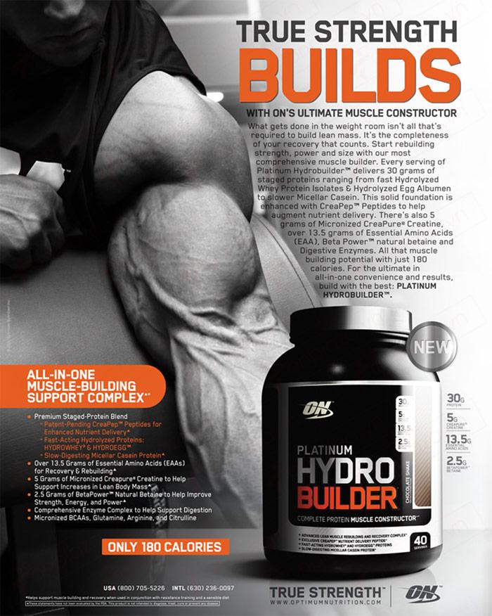 Sữa tăng cơ Platinum HydroBuilder 4.4lbs TH024 4